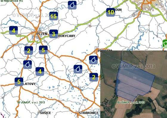 Mapová služba geoportálu SOWAC GIS
