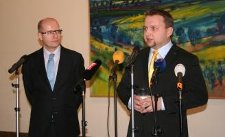 Ministr Jurečka a premiér Bohuslav Sobotka